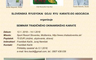 SEMINÁR TRADIČNÉHO OKINAWSKÉHO KARATE 2018